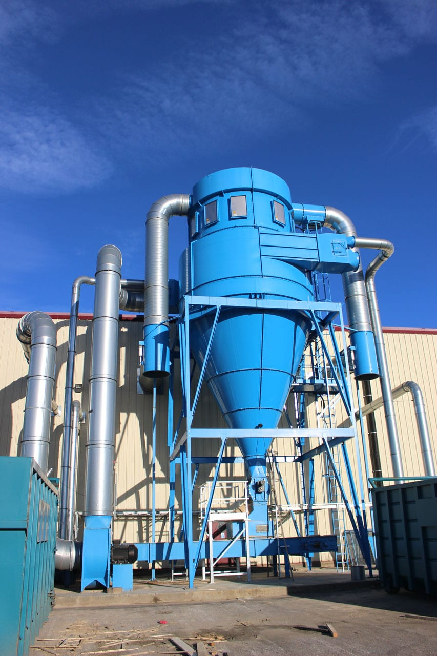 Wood Shavings Dust Extraction System with 4Y9 Cyclofilter