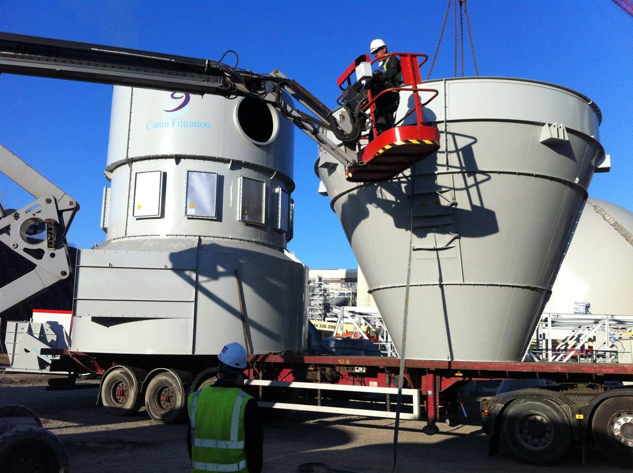 Installation of Cyclofilter at Drax Power Station