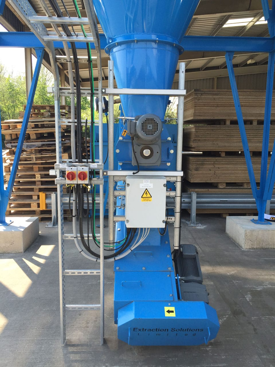 Control Wiring for Dust Extraction System