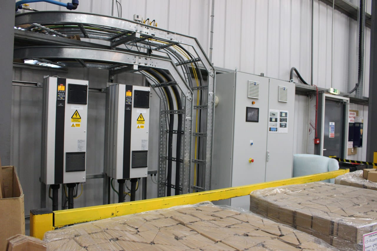 Dust Extraction Control Panel and Inverters