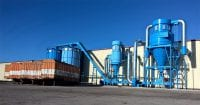 Large Cyclofilter Dust Extraction, Wood Silos, and Materials Handling System