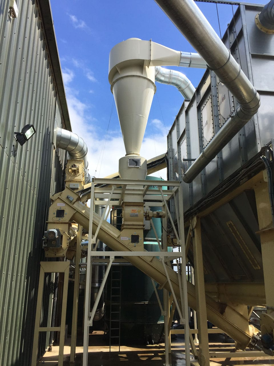 MDF Dust Transport System with Cyclone