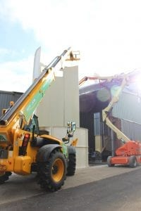 Installation of Saw Dust Silo