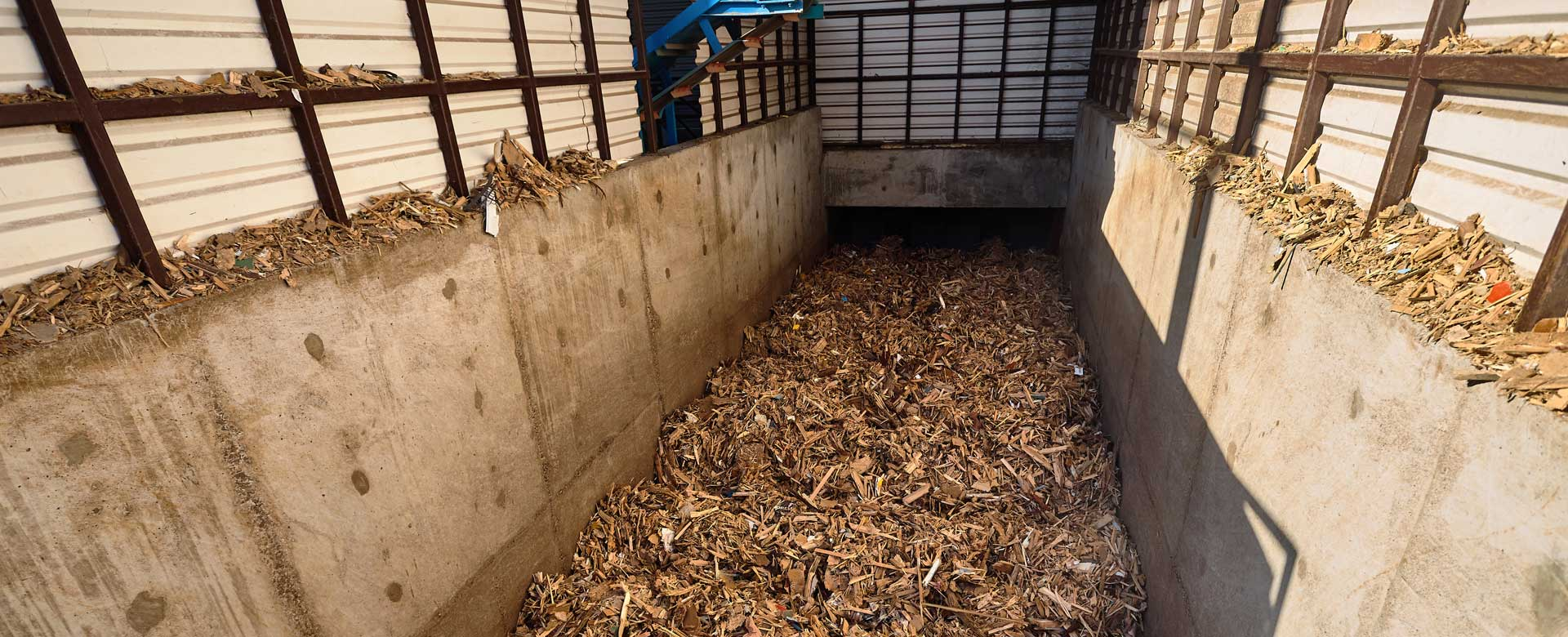 Wood Chip Materials Handling In feed Conveyor