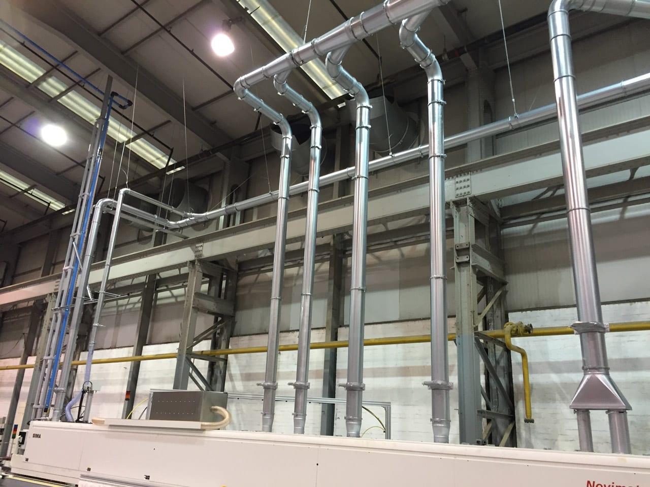 QF Ducting System Serving Edgebander