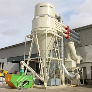 Large Cyclofilter Extraction Unit